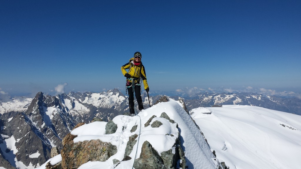 Une alpiniste au top!